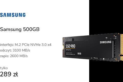 Samsung 500GB M.2 PCIe NVMe 980