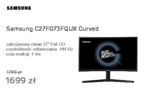 Samsung C27FG73FQUX Curved czarny Quantum Dot