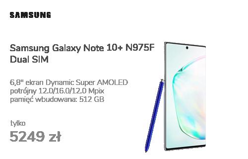 Samsung Galaxy Note 10+ N975F Dual SIM Aura Glow 512GB