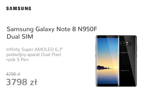 Samsung Galaxy Note 8 N950F Dual SIM Midnight Black