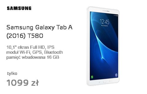 Samsung Galaxy Tab A 10.1 (2016) T580 16GB Biały FHD