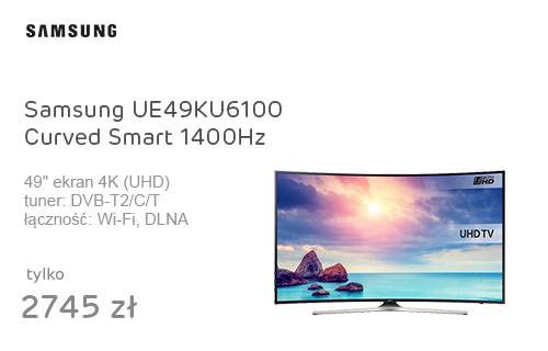 Samsung UE49KU6100 Curved Smart 4K 1400Hz WiFi HDR