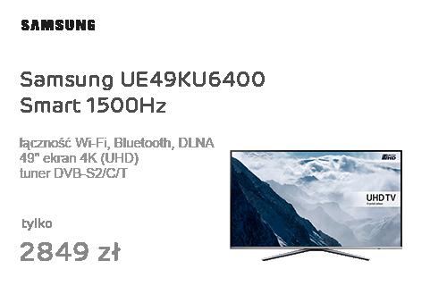 Samsung UE49KU6400 Smart 4K 1500Hz WiFi 3xHDMI HDR