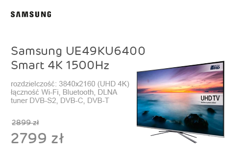 Samsung UE49KU6400 Smart 4K 1500Hz WiFi 3xHDMI USB