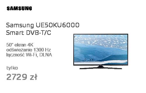 Samsung UE50KU6000 Smart 4K 1300Hz WiFi 3xHDMI USB DVB-T/C
