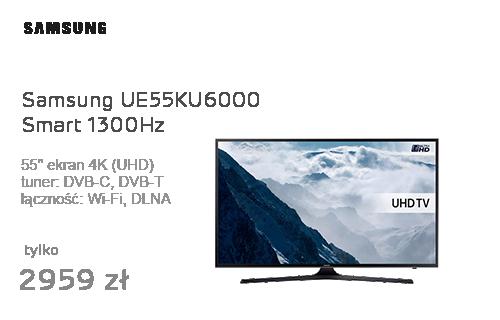 Samsung UE55KU6000 Smart 4K 1300Hz WiFi 3xHDMI USB DVB-T/C