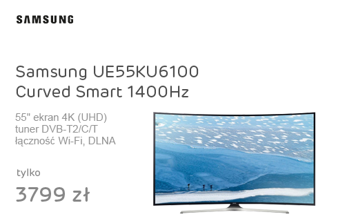 Samsung UE55KU6100 Curved Smart 4K 1400Hz WiFi 3xHDMI
