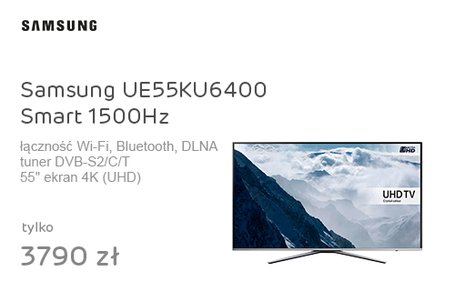 Samsung UE55KU6400 Smart 4K 1500Hz WiFi 3xHDMI USB