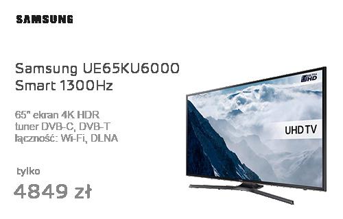 Samsung UE65KU6000 Smart 4K 1300Hz WiFi 3xHDMI USB HDR