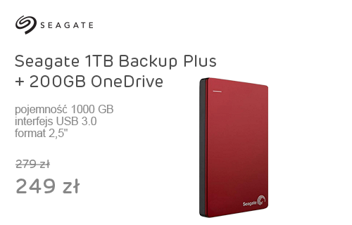 Seagate 1TB Backup Plus + 200GB OneDrive 2,5''