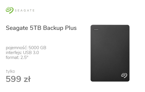Seagate 5TB Backup Plus 2,5'' czarny