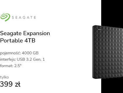 Seagate Expansion Portable 4TB USB 3.2 Gen. 1 Czar