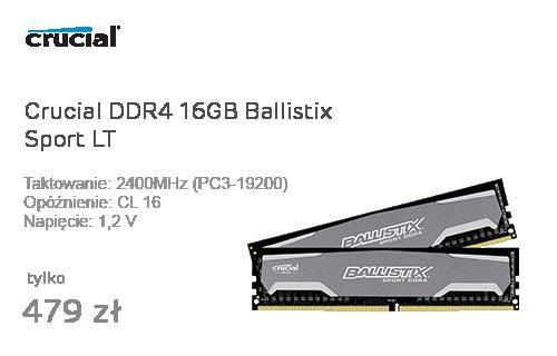 Crucial DDR4 16GB Ballistix Sport LT