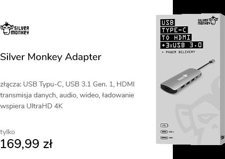 Silver Monkey Adapter USB-C - HDMI, 3x USB, USB-C