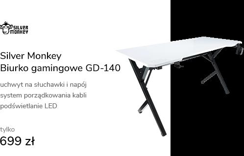 Silver Monkey Biurko gamingowe GD-140 białe