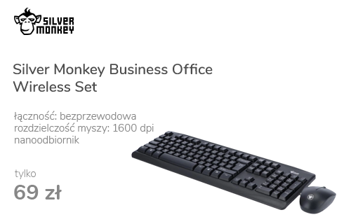 Silver Monkey Business Office Wireless Set