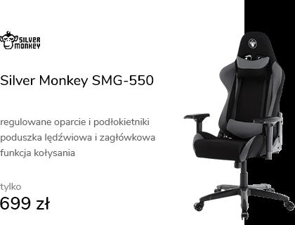 Silver Monkey SMG-550 (Czarno-Szary) Tkanina