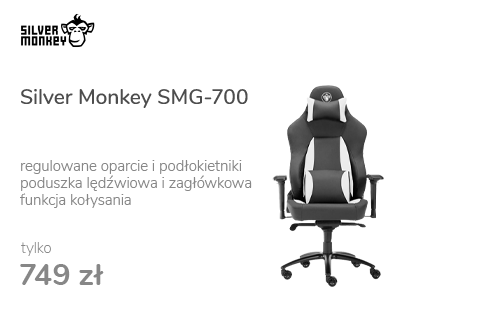 Silver Monkey SMG-700 (Czarno-Biały)