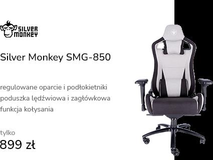 Silver Monkey SMG-850 (Czarno-Szary) Tkanina