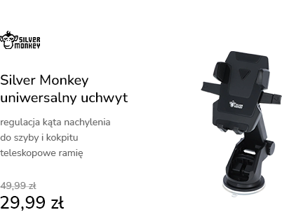 Silver Monkey Uniwersalny Uchwyt do Szyby i Kokpit