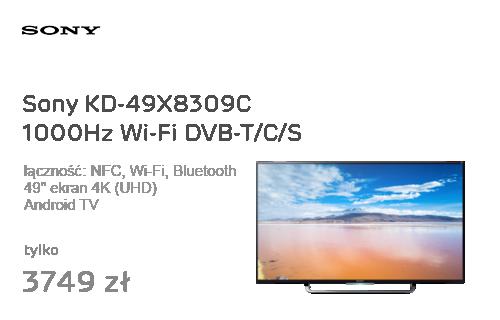 Sony KD-49X8309C Android 4K 1000Hz Wi-Fi DVB-T/C/S