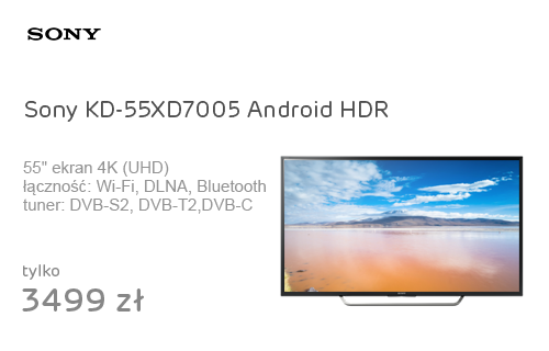 Sony KD-55XD7005 Android 4K HDR WiFi 4xHDMI