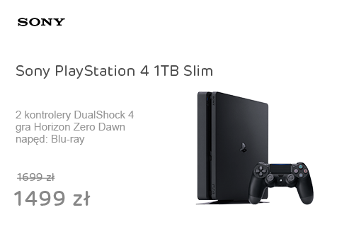 Sony PlayStation 4 1TB Slim + Horizon Zero Dawn + PAD