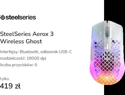 SteelSeries Aerox 3 Wireless Ghost