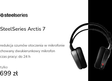 SteelSeries Arctis 7 Czarne - Bezprzewodowe