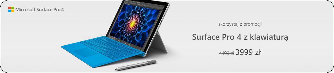Microsoft Surface Pro 4 z klawiaturą
