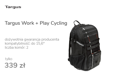 "Targus Work + Play Cycling 15.6"" czarny"