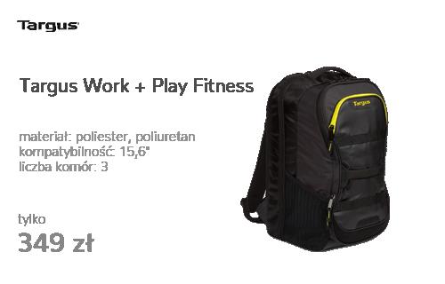 """Targus Work + Play Fitness 15.6"""" czarny/żółty"""