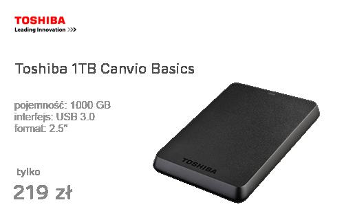 Toshiba 1TB Canvio Basics 2,5'' czarny USB 3.0