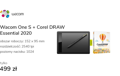 Wacom One S + Corel DRAW Essential 2020