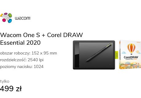 Wacom One S + Corel DRAW Essential 2020