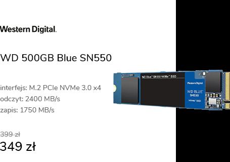 WD 500GB M.2 PCIe NVMe Blue SN550