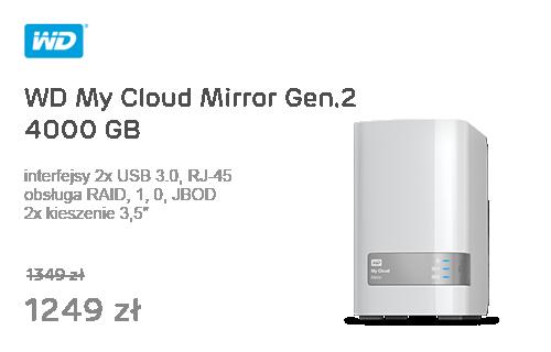 WD My Cloud Mirror Gen.2 4TB biały 10/100/1000Mb/s