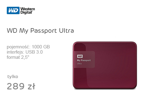 WD My Passport Ultra 1TB berry USB 3.0