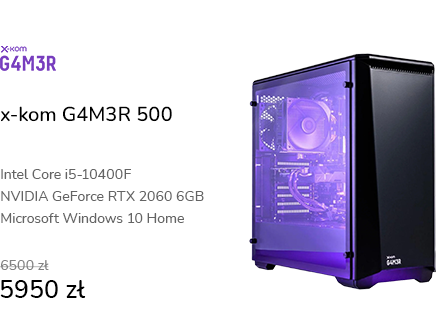 x-kom G4M3R 500 i5-10400F/16GB/960/W10X/RTX2060