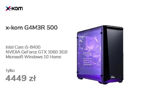 x-kom G4M3R 500 i5-8400/16GB/120+1TB/W10X/GTX1060