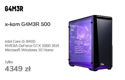 x-kom G4M3R 500 i5-8400/GTX1060/8GB/120GB+1TB/WX