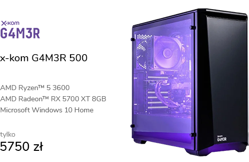 x-kom G4M3R 500 R5-3600/16GB/960/W10X/RX5700XT