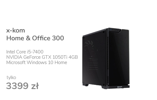 x-kom Home & Office 300 i5-7400/8GB/120+1TB/W10X/1050Ti