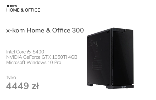 x-kom Home & Office 300 i5-8400/16GB/256+1TB/10PX/1050Ti