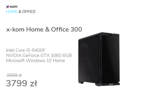 x-kom Home & Office 300 i5-9400F/16GB/240+1TB/W10X/1060