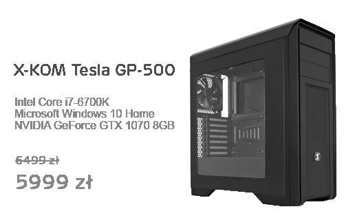 X-KOM Tesla GP-500 i7-6700K/1070/16GB/1TB+240GB/Win10X