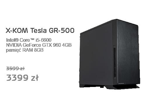 X-KOM Tesla GR-500 i5-6600/GTX960/8GB/1TB
