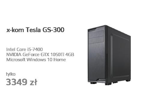 x-kom Tesla GS-300 i5-7400/GTX1050Ti/8GB/128GB+1TB/WX
