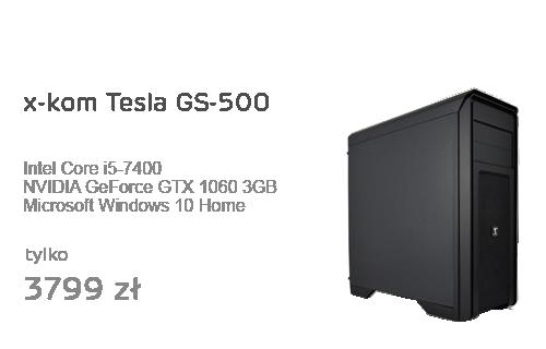 x-kom Tesla GS-500 i5-7400/GTX1060/8GB/128GB+1TB/WX
