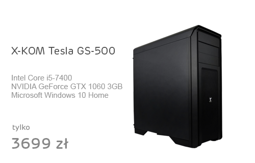 X-KOM Tesla GS-500 i5-7400/GTX1060/8GB/1TB/Win10X
